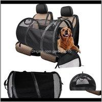 مقعد السيارة يغطي كلب pet playpen خيمة قفص غرفة قابلة للطي جرو ممارسة القط قفص للماء في الهواء الطلق بابين باب الظل غطاء عش كين b8i7s