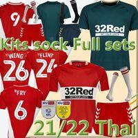 21/22 Middlesbrough Soserys 2021 2022 Ashley Michael Fletcher 11 Flint 24 Wing 26 ASSOMBALONGA 9 Akpom 10 Fry 6 Home Away Kits Socke Full Sets Football Hemden