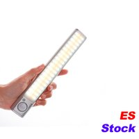 ES-Lager 160 LED-Treppen Nachtlicht Wireless Pir Motion Sensing Closet Unter Schrankbeleuchtung USB Wiederaufladbare Batterie