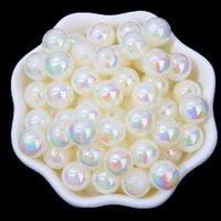 Neue 4-14mm AB Farbe Runde Acryl Perlen Lose Spacer Perlen für Schmuckherstellung DIY Armband Zubehör 1174 Q2