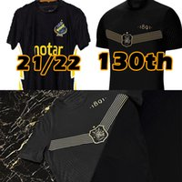 21 22 Aik Soccer Jerseys 130 anni dal 1891 Camicia fotboll Nero Golden Golden PapagianNopoulos Rogic Larsson Tihi 2021 2022 130th Anniversary Football Camicie Top Uniforme
