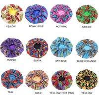 Extra Large Print Satin Bonnet Sleep Cap African pattern print fabric Ankara bonnets Night Sleep Hat Hair Loss Cover Accessories