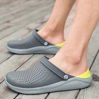 sandals Crocks Summer Hole Crok Rubber Clogs Men EVA Unisex Garden Shoes Black Crocse Beach FlatSandals Slippers