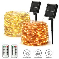 LED Outdoor Solar Lamp String Lights 400 500 LEDs Fairy Holiday Christmas Party Garland Solar Garden Waterproof 42m 52m Decor
