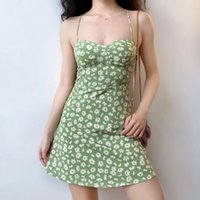 Floral Print Sexy Strap Dress Women Elegant Sweet Chic Off Shoulder Party Mini High Street Outdoor Beach Summer 2021 Casual Dresses
