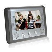 7`` TFT Color Video Door Phone Intercom Doorbell System Kit IR Camera Doorphone Monitor Speakerphone Phones