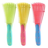 Hair Brushes Professional 8 Rows Detangling Brush Comb For Curly Wavy Wet Dry Thick Long Knotted Tool