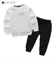Çocuk giyim setleri erkek kız giyim sonbahar kış desen tasarımcı kazak elbise çocuklar 2-11 yıl ceket + pantolon
