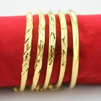 Lovely Baby Bracelet Bangles High Quality 24K Yellow Gold Plated Stars Bangles Bracelet for Babies Children Nice Gift ps1919
