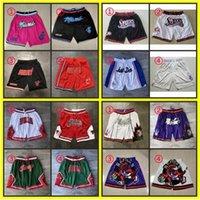 2021 Just Mitchell Ness Don Imprimé Basketball Pocket Shorts authentiques Pantalones Supersonique Retro XXX1