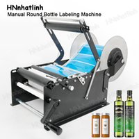 Food Processing Equipment ZS-50W Sleeve Manual Mineral Wine Beer Water Cosmetic Jars Wide Label Packing Machine For Round Bottles Sticker Labeler Packer