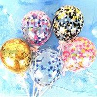 Alla hjärtans dag kärlek hjärta ballong sequins bling tårta ballonger festival födelsedagsfest leveranser dekoration bröllop paillette airballoon