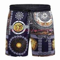 Мужские шорты для мужчин Twill напечатанные досуг высочайшего качества пляжные брюки купальники Bermuda мужские буквы серфинг спасатель M-3XL