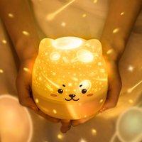 Новая звезда проекция ночной свет светодиодный вращающийся музыка романтическая мечта девушка атмосфера лампы творческий подарок