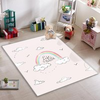 Carpets Carnival Rainbow And Clouds Pink Kids Room Rug
