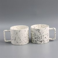 Mugs Nordic With Square Handle Ceramic Creative Splash-ink Cups For Coffee Tea Unique Gift Drinkware Friends Home Decor