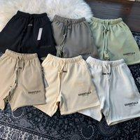 2021 Sis Essentials 3 M Yansıtıcı Şort Erkek Kadın Tasarımcı Pantolon Tanrı Korkusu Korku Korkusu Koşu Jogger Artı Polar S-XL 8891 #