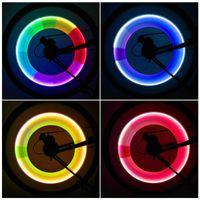 Interior&External Lights 2PCS Bicycle With Batteries Valve Stem CAP Motorbike Car Bike Wheel Tire Lamp LED Light Accessories