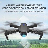 4K 1080 وعاء HD E525 بدون طيار زاوية واسعة المزدوج كاميرا wifi fpv تحديد المواقع ارتفاع الحفاظ على طوي rc هليكوبتر dron لعبة هدية الطائرات بدون طيار