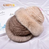 Wide Brim Hats Winter Luxury Natural Real With Hat Women Hand Made Knit Fashion Warm Fluffy Genuine Knitted