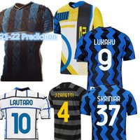 Inter Lukaku Lautaro Soccer Jerseys Player Skriniar Barella Eriksen Alexis Hakimi 21-22 قميص كرة القدم J. Zanetti المجموعة الرابعة