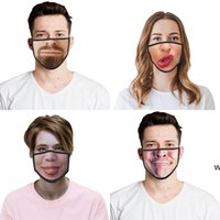 Многоразовые моющиеся смешные моды лица маска для лица 3D выражение эмоции личности маски пылезащитные дымовые дышащие партии маски DHB6414