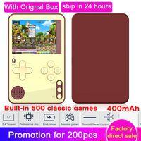 휴대용 게임 플레이어 원래 K10 미니 콘솔 2.4 인치 스크린 핸드 헬드 베이비 플레이어 내장 500 고전 키즈 선물 게임
