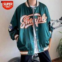 Stand-up Collar Baseball Uniform Men Couple Loose Locomotive Coat Pilot Coach Korean Punk Jacket Streetwear Hippie Clothes #ny1y