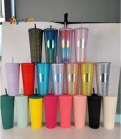 24 oz personalisierte starbucks schillernde bling regenbogen einhorn namtige kalte becher tumbler kaffee tasse mit stroh fy4488