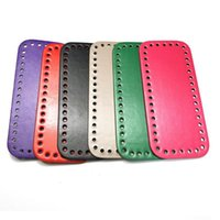 Bag Parts & Accessories Leather Bottom Shaper Cushion Pad For Making DIY Shoulder Handbag Purse Rectangle With Holes