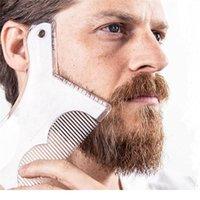 1 pz nuovi uomini barba modellazione modello barbe pettine styling shaper capelli barba trim trim gol guida strumento trucco bellezza t jllekg