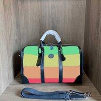 Moda Renk Eşleştirme Seyahat Çantası üst Lüks Tasarımcı Marka 2021 Büyük Kapasiteli Çok Fonksiyonlu Tuval Çanta Yüksek Kalite Özel Klasik Tatil Stil