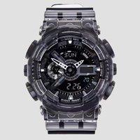 Sport e svago Altremzo da uomo 110 orologio LED Dual Movimento Dual Movimento nero Modello Nero Tutte le funzioni possono essere utilizzate, la luce di raccolta a mano automatica