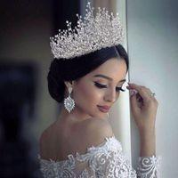 Hair Clips & Barrettes TOPQUEEN HP193-S 100%Handmade Fashion Princess Crown Rhinestones Crystal Alloy Headband Bridal Wedding Gift Jewelry