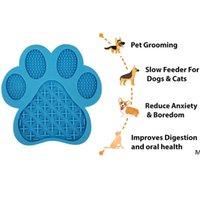 Perro Lick Mat Feeder Slow Happing Distraction Pads con ventosa para golosinas, alivio de ansiedad, aseo, entrenamiento para mascotas DHE5710