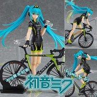 14 cm Bonito Anime Vocaloid Hatsune F307 Racing Teamukyo Suporte Ver. Figura de ação PVC Modelo colecionável brinquedos boneca y0705