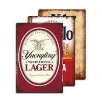 V14 Malerei, Vintage viele Wahl Bier Marke Plaque Großhandel Kundenspezifische Zinnzeichen Bar Pub Mann Höhle Decor 20 cm * 30 cm