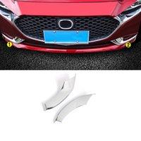 Mazda 3 / Axela BP 2020-2021 자동차 액세서리 전면 리어 안개 가벼운 트림 커버 프레임 스티커 크롬 장식 몰딩을위한 Carmango