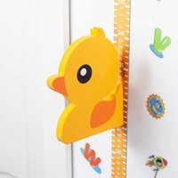 Wall Stickers Height Measuring Ruler Magnetic Adsorpt Measurement Children Sticker Paper Cartoon Animal for Kids Room Decoration 210726