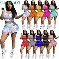 النساء رياضية قطعتين مجموعة مصمم وتتسابق مثير الكامل الحروف المطبوعة عارضة الرياضة سترة تنورة السيدات ملابس رياضية زي