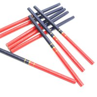 أقلام رصاص diy اليد أداة نجار قلم رصاص جولة هندسة قلم خشبي القلم النجار الأحمر والأزرق
