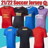 Rangers Football Jerseys 21/22 Home Blau Fußball Jersey Hagi Tavernier Davis 2021/2022 Männer Away Black 3. Lila Fußball-Hemd Erwachsene Uniform