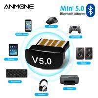 Alıcılar 5.0 Bluetooth USB Adaptörü PC Ses Dosya Transferi Alıcı ile Mini Laptop
