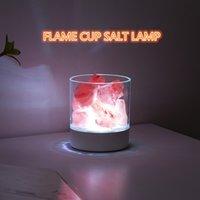 Lampada di lava colorata luce naturale luce naturale lampade sale purificatore aria flame tazza della lampada rock camera da letto decorazione usb ricaricabile