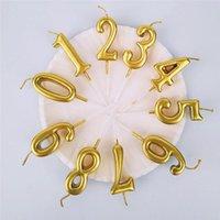 إمدادات حزب الاحتفالية الأخرى الذهبي إلكتروني شمعة إلكتروني عيد ميلاد الذهب مطلي كعكة بولي كلوريد الفينيل مربع الديكور الإبداعية الجملة