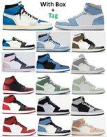 Zapatillas de baloncesto nuevas 1 High OG Bred Toe Chicago Banned Game Royal para hombres Zapatillas 1s Top 3 Shattered Backboard Shadow Multicolor con caja