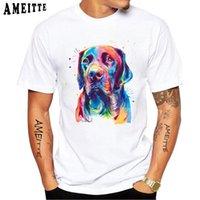 Super Clever Labrador Retriever Imprimir T-shirt Verano Hombres Casual Casual Tees Lab Acuarela Lindo Jack Russel Terrier Dog Tops T-Shirts