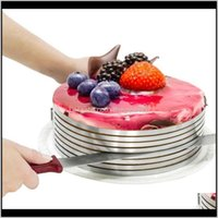 Bakeware Kitchen, Dining Bar Home & Garden15-20Cm Mold Cake Ring Tools Cutter Round Shape Bread Slicer Adjustable Layered Drop Delivery 2021