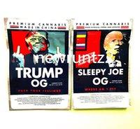 Più nuovo Trump Sleep Joe OG 3 5G Mylar Bags Sides Sigillato Sacchetto piatto 420 Imballaggio floreale