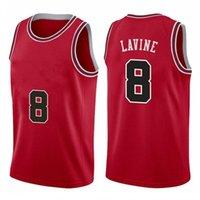 Baloncesto Jersey Mens Zach 8 Lavine City Derrick 1 Rose 23 Dennis 91 Rodman Scottie 33 Pippen Rojo blanco Blanco Black Stripe Shirt